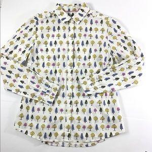 Boden Tree Print Button Down Shirt